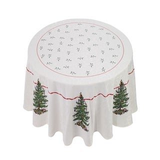"Spode Red Tree 70"" Round Tablecloth"