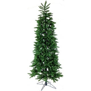 Fraser Hill Farm Carmel Pine Metal 9-foot Slim Artificial Christmas Tree