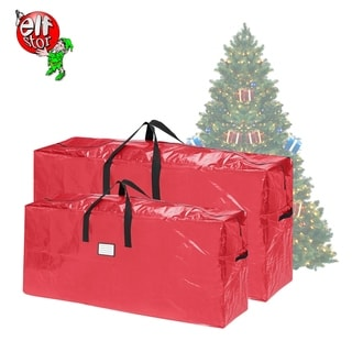 Elf Stor Christmas Tree Bags 7.5' Trees and Extra 9' Trees 2-Pack