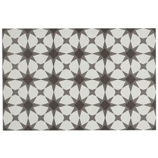 Hand-Made Encaustic Look 8X8 Starbrite White & Black Decorative Blend