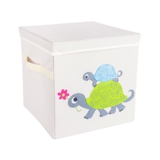 DII Polyester Felt-Stitched Decorative Kid Storage Cube with Lid