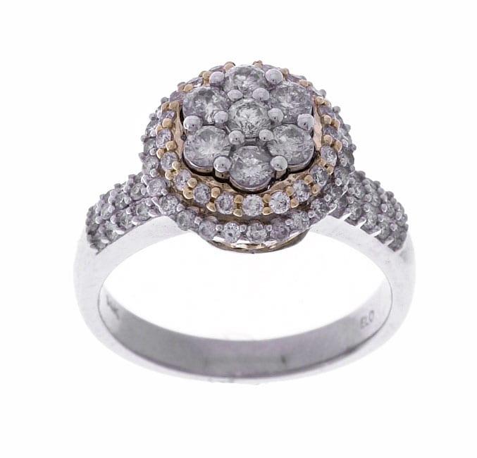 Eloquence 14k Gold 1ct TDW Round Diamond Engagement Ring (G, I2)