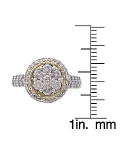 Eloquence 14k Gold 1ct TDW Round Diamond Engagement Ring (G, I2)