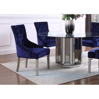 Best Master Furniture Glam Upholstered Side Chair (Set of 2)
