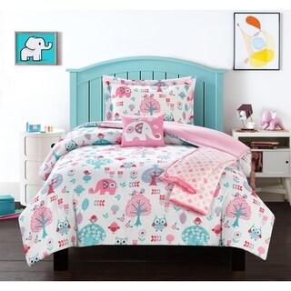 Chic Home Mahmud 5 Piece Elephant Owl Friends Design Comforter Set