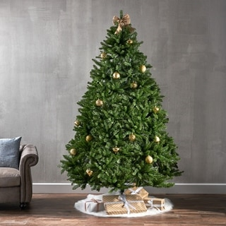 7.5-foot Norway Spruce Pre-Lit String Light or Unlit Hinged Artificial Christmas Tree by Christopher Knight Home