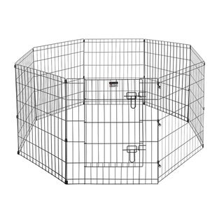 "Pet Trex Quality 30"" Playpen 8 24"" x 30"" High Panels with Gate"