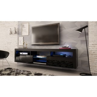 """Bari 200 Wall Mounted Floating 79"""" TV Stand with 16 Color LEDs"""