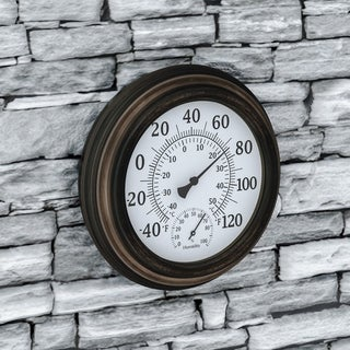 "Wall Thermometer and Hygrometer Humidity Gauge-5.5"" by Pure Garden"