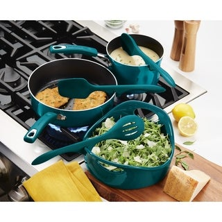 Rachael Ray Tools & Gadgets Silicone 3pc Lazy Tools Set, Marine Blue
