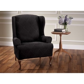 Stretch Sensations Shapely Diamond Wing Chair Slipcover - wing chair