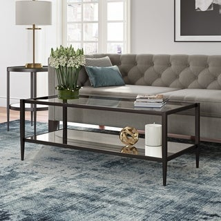 Wilda Coffee Table with Mirrored Shelf (Optional Finishes)