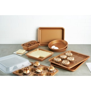 Ayesha Bakeware Set, Copper, 10-Piece - copper