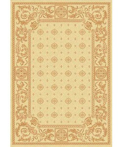Safavieh Indoor/ Outdoor Beaches Natural/ Terracotta Rug (2'7 x 5')