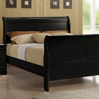 Copper Grove Carlson Black Sleigh Bed