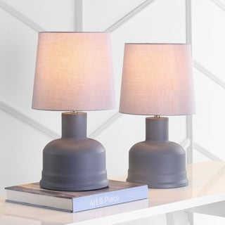 "Safavieh Lighting 19-inch Dahlia Grey LED Table Lamp (Set of 2) - 10""x10""x18.5"""