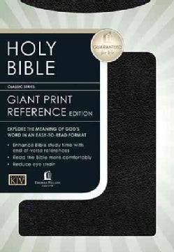 Holy Bible King James Version Personal Size Giant Print/Black Leather (Hardcover)