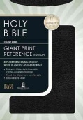 Holy Bible King James Version Classic Giant Print Center Column Reference Bible/Black Bonded Leather Indexed (Hardcover)