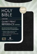 Holy Bible King James Version Classic Giant Print Center Column Reference Bible/Black Bonded Leather (Hardcover)