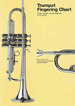 Trumpet Fingering Chart: For B Flat Trumpet, Cornet, Flugelhorn and Baritone (Wallchart)