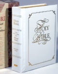 Holy Bible: King James Version, White Padded Bonded Leather, Family Faith and Values (Hardcover)