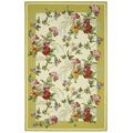 Hand-hooked Botanical Ivory/ Yellow Wool Rug (3'9 x 5'9)