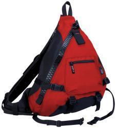 J World 'Hickory' Red Big Zipper Sling Bag