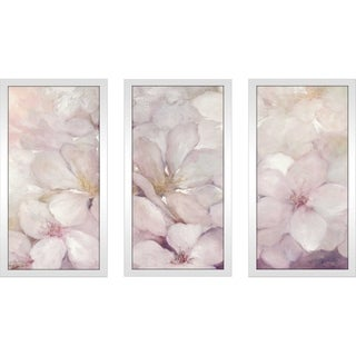 """""""Apple Blossoms"""" by Julia Purinton Framed Acrylic Wall Art Set - Pink"""