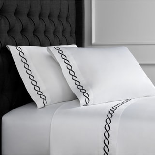 Home Sweet Home Collection 600 Thread Count Cotton Rope Embroidery Bed Sheet Set
