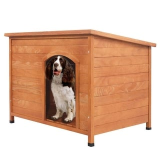 In/Outdoor Waterproof Wood Pet Shelter Kennel Dog House