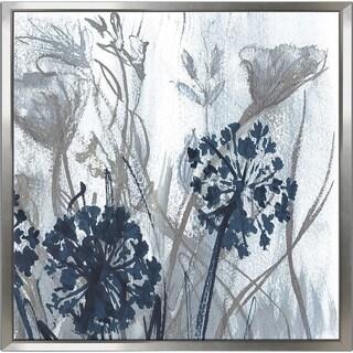 """Indigo Field 2"" by Susan Jill Print on Canvas in Floating Frame - Blue"