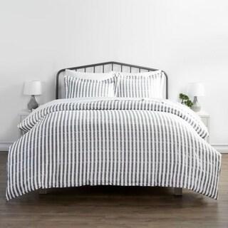 Merit Linens Premium Ultra Soft 3 Piece Rugged Stripes Duvet Cover Set