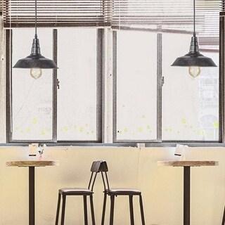 Porch & Den Honeycrest Rustic Black Barn-style Pendant Light