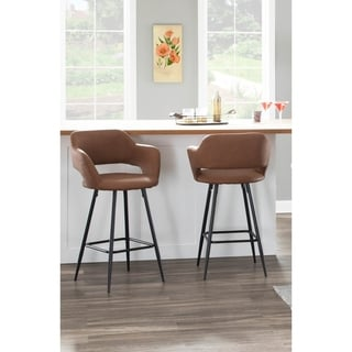 Margarite Contemporary Upholstered Counter Stool (Set of 2)
