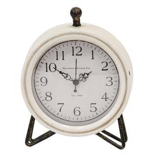 Stratton Home Decor Daisy Table Clock