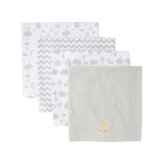 Spasilk 4 Pack Cotton Receiving Blankets - One Size