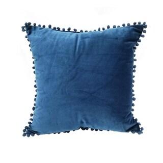 Pom Pom Velvet Throw Pillow