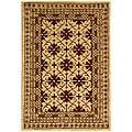 Safavieh Handmade Classic Kashan Beige Wool Rug (4' x 6')