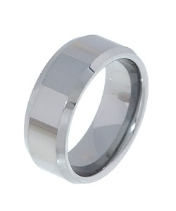 Men's Tungsten Carbide Beveled-edge Band (8 mm)