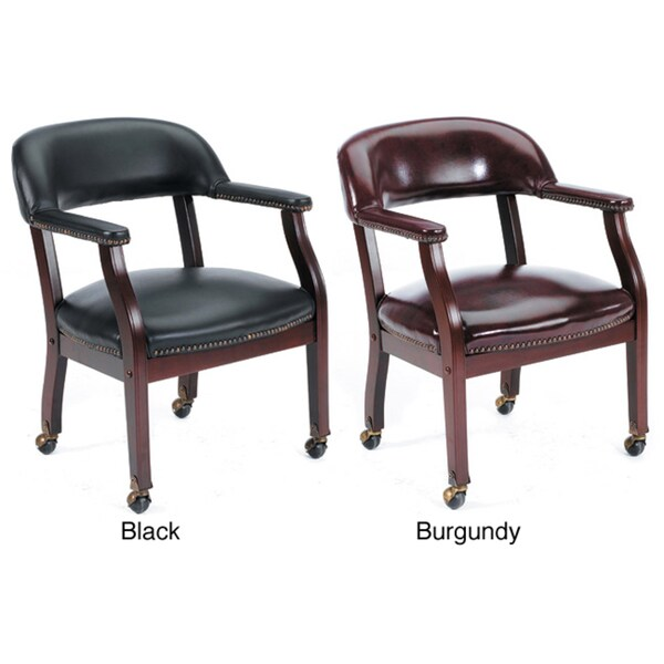 Boss Wheeled Captain's Guest Arm Chair