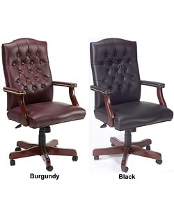 Boss Traditional Executive Bonded Leather Swivel Chair