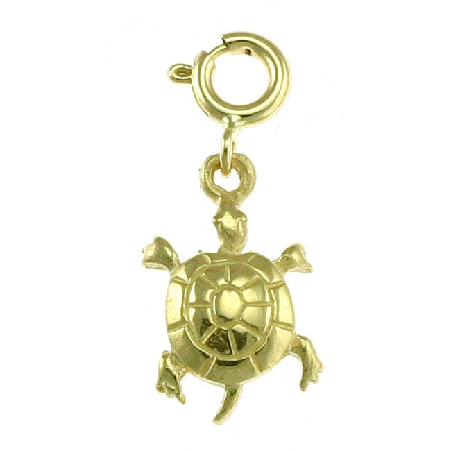 14k yellow gold turtle charm overstock shopping big