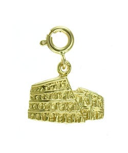14k Yellow Gold Roman Colosseum Charm