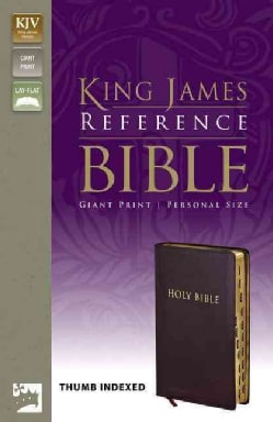 Holy Bible: King James Version, Burgundy, Bonded Leather, Giant-print Reference, Personal Size, Thumb Indexed (Paperback)