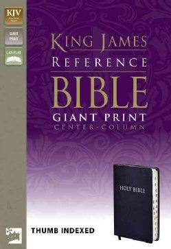 Holy Bible: King James Version, Navy, Bonded Leather, Giant Print Center-Column Reference Bible (Paperback)