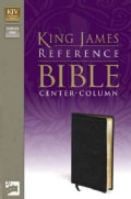 Holy Bible: King James Version Reference Bible Black Premium Leather-Look (Paperback)