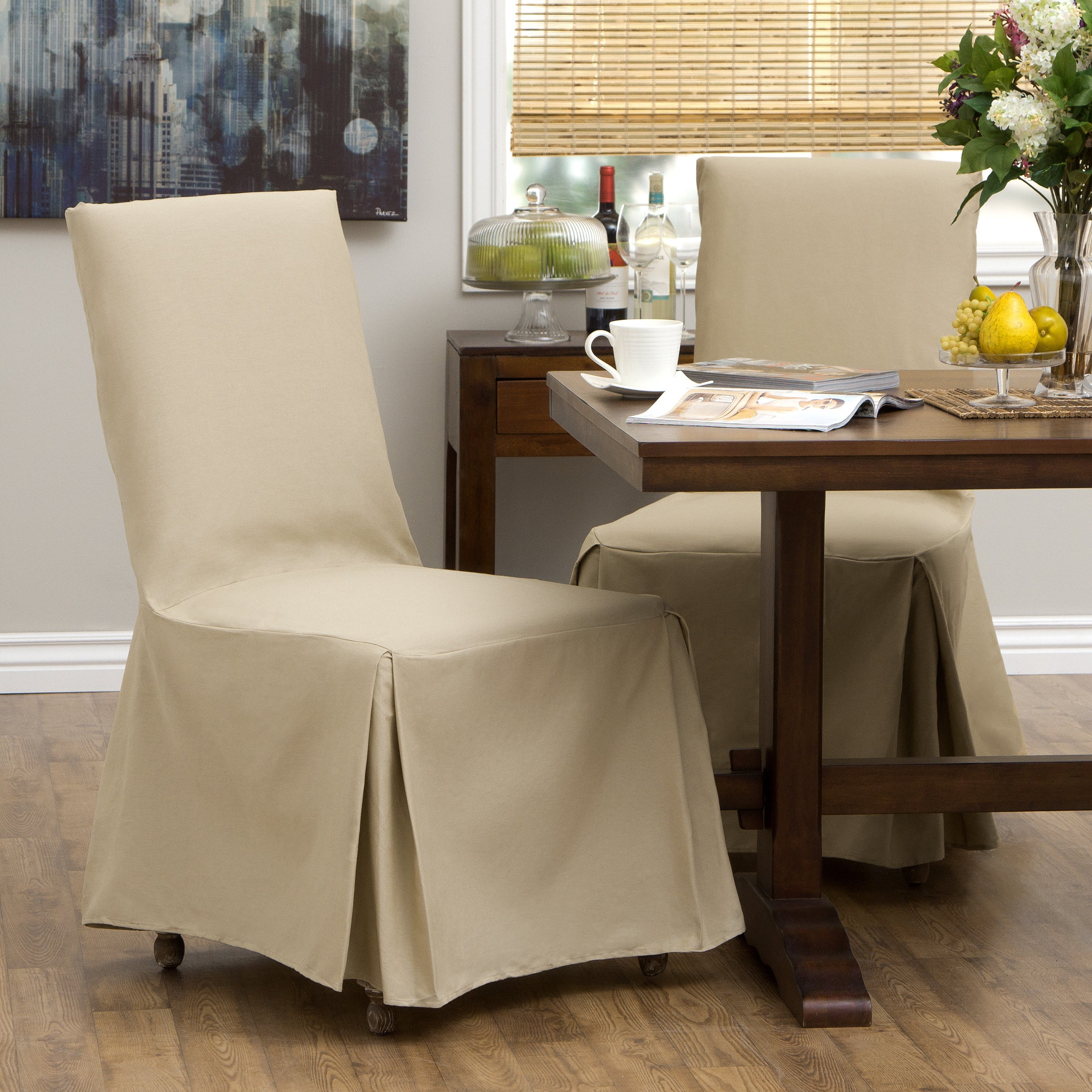 Cotton Duck Parsons Chair Slipcover Pair - Overstock Shopping - Big ...