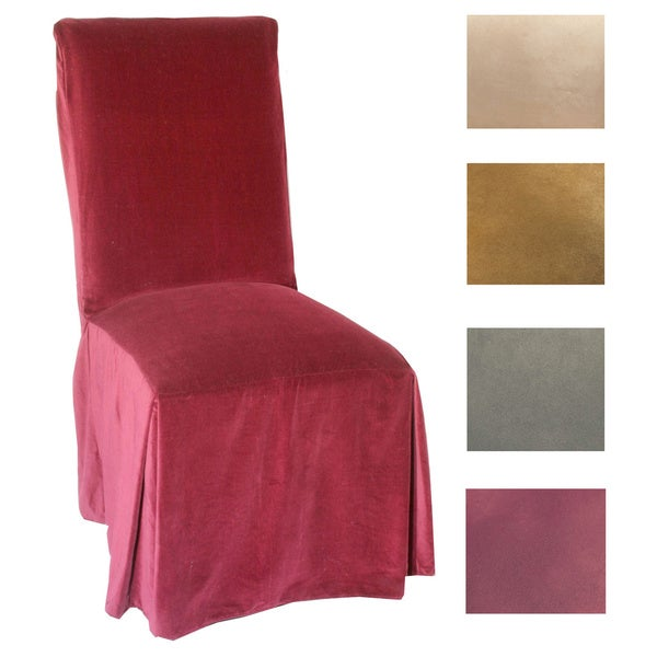 Microsuede Parsons Chair Slipcover (Set of 2) (As Is Item)
