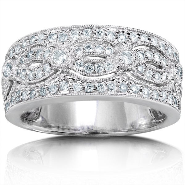 Annello 14k White Gold 1/2ct TDW Round Diamond Band (H-I, I1-I2)