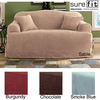 Sure Fit Smooth Suede T-cushion Loveseat Slipcover